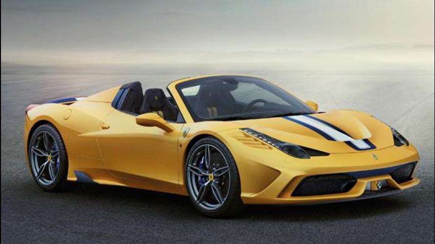 Ferrari 458 Speciale A, splendidamente aperta