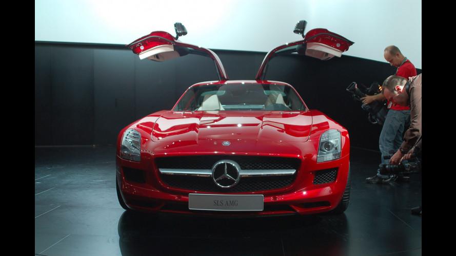 Mercedes SLS AMG al Salone di Francoforte 2009
