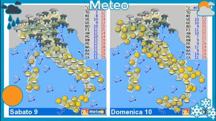Meteo del fine settimana 9-10 marzo: piogge sparse