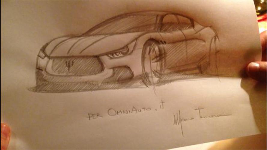 Maserati Ghibli, il video-disegno di Marco Tencone