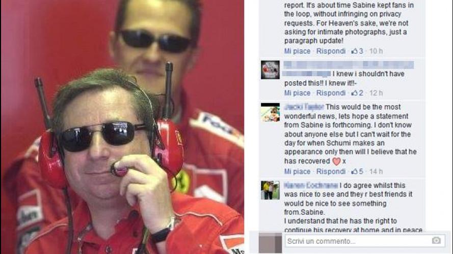 """""""Schumacher fa progressi"""", lo dice Jean Todt ma i fan vogliono info ufficiali"""