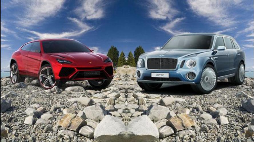 Lamborghini contro Bentley: scontro fra super SUV