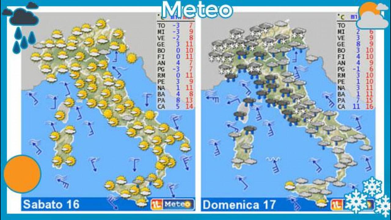 [Copertina] - Meteo del fine settimana 16-17 marzo: prima sole, poi pioggia