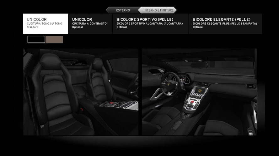 La Lamborghini Aventador LP700-4 si configura online