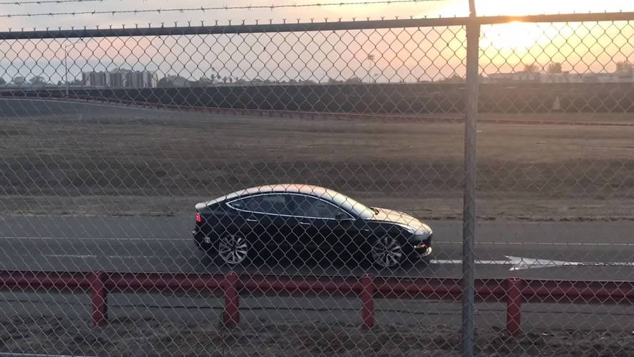 Performance Version Of Tesla Model 3 Caught On Camera