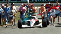 Hockenheim 1991: Gerhard Berger (McLaren) e Ivan Capelli (Leyton House)