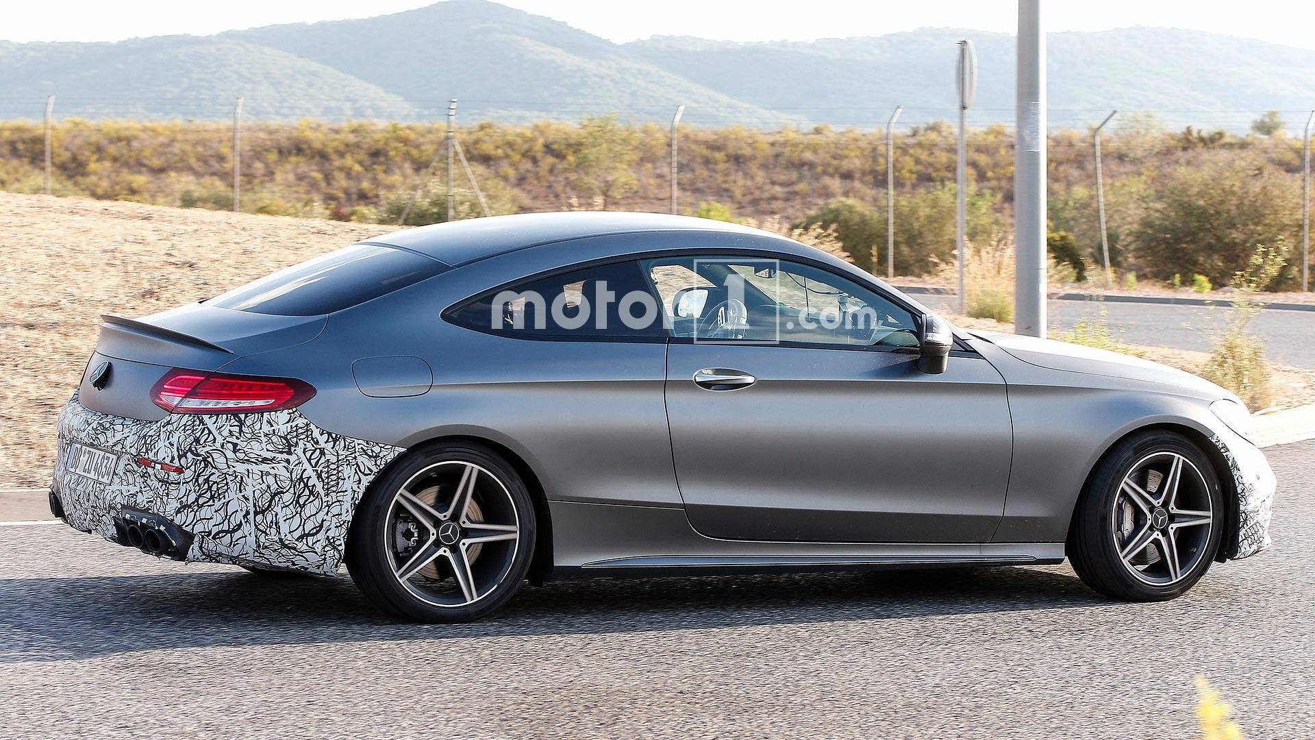 Refreshed Mercedes-AMG C43 and C63 Coupes Spied Testing