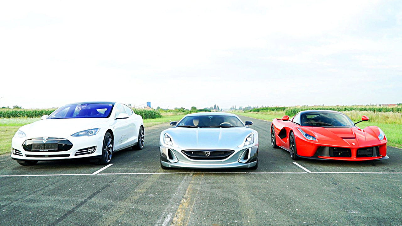 Rimac Concept One takes on LaFerrari, Tesla Model S P90D in drag race