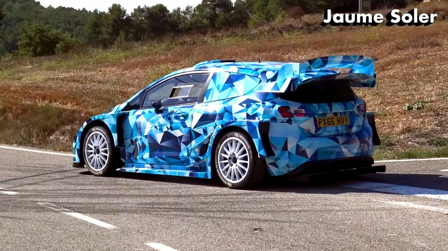 2017 Ford Fiesta WRC spied testing on asphalt