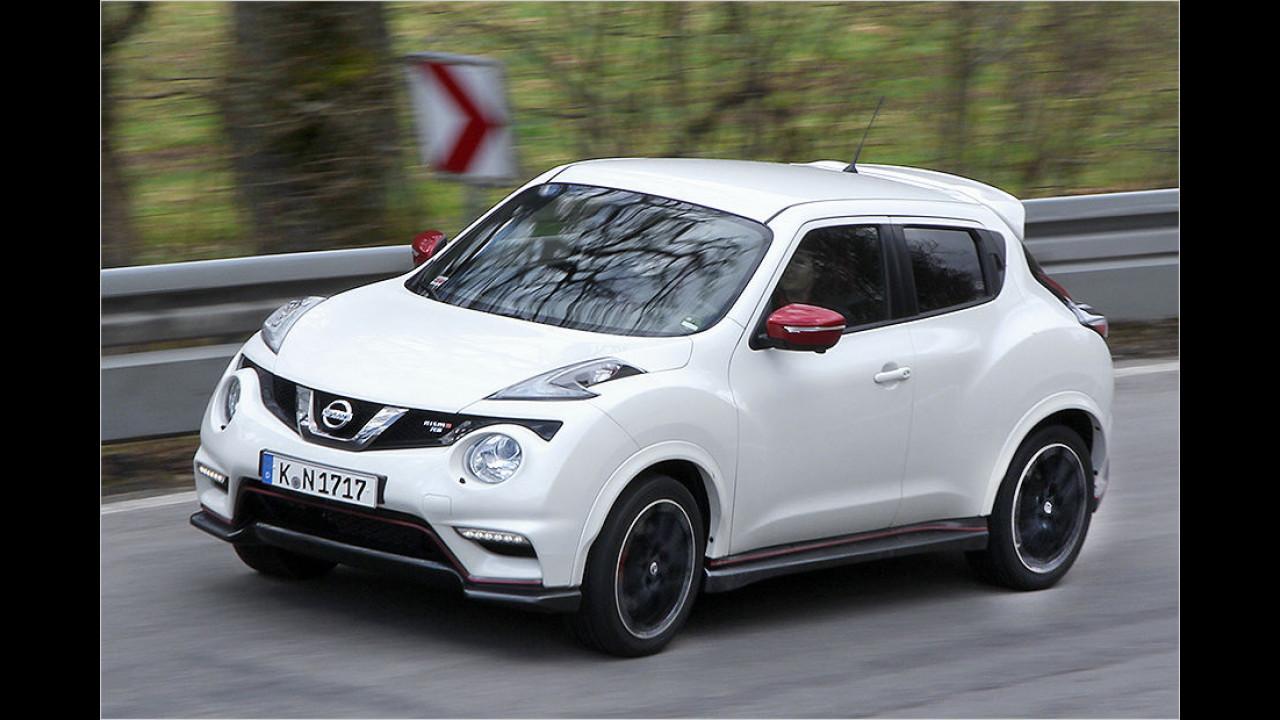 Nissan Juke Nismo RS: 7,0 Sekunden auf 100 km/h