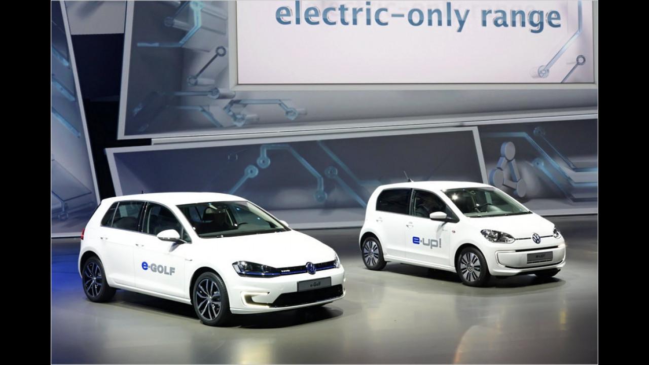 VW e-Golf und e-Up