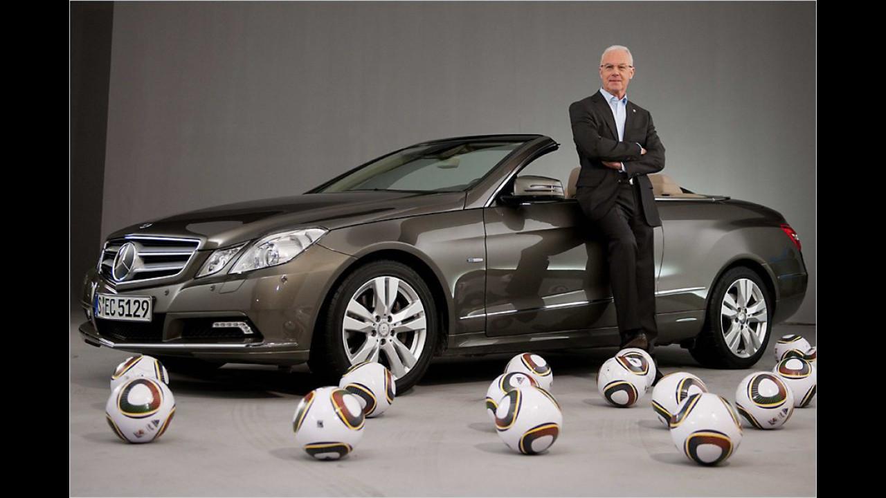 Franz Beckenbauer: Mercedes E-Klasse Cabrio