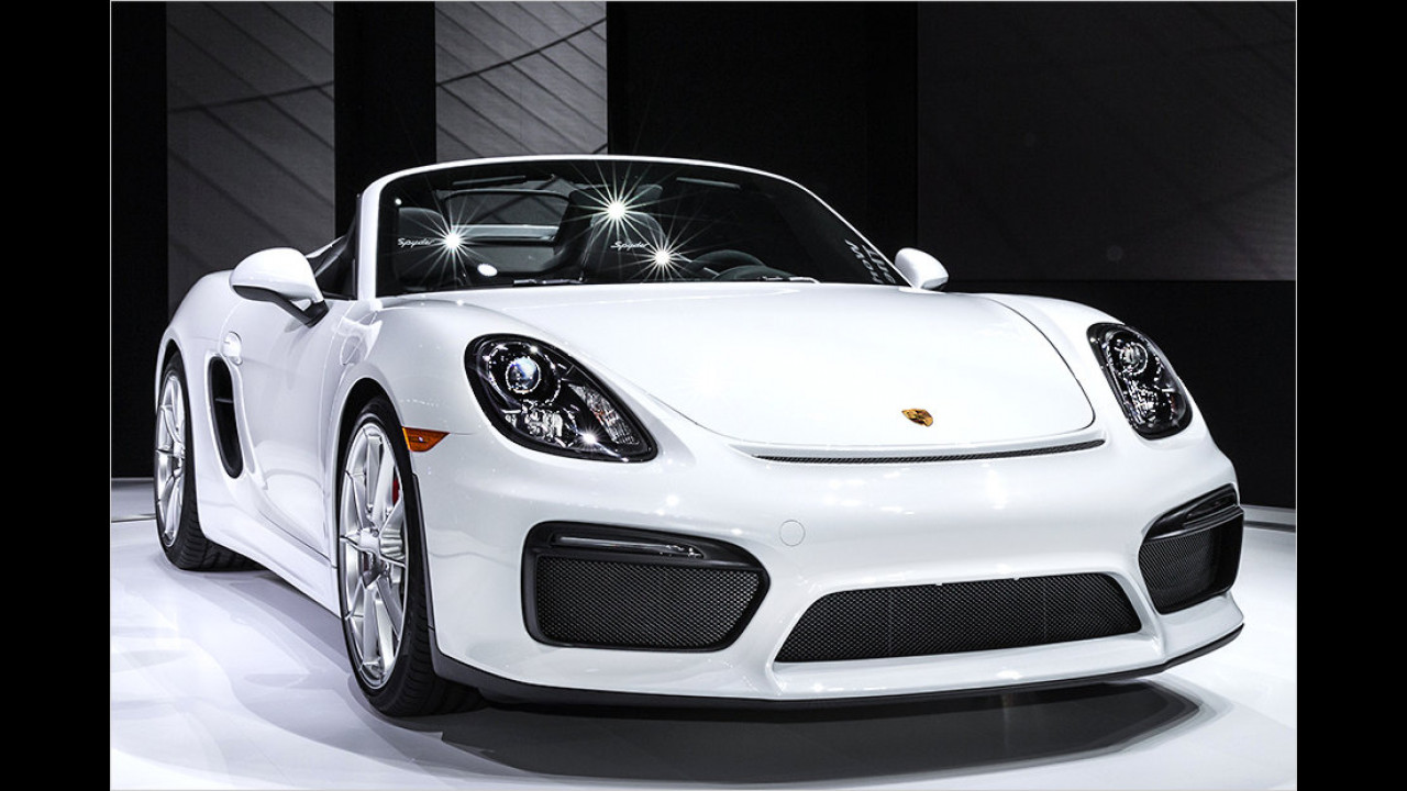 NYIAS 2015: So sitzt es sich im Porsche Boxster Spyder
