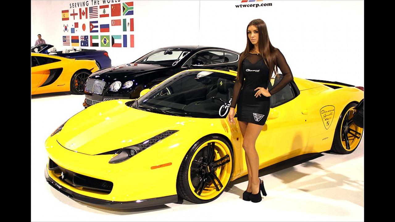 Also, wenn ICH einen Ferrari hätte, würde ich glücklicher schauen