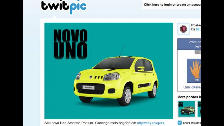 Novo Fiat Uno pode ser montado e personalizado pelo Twitter