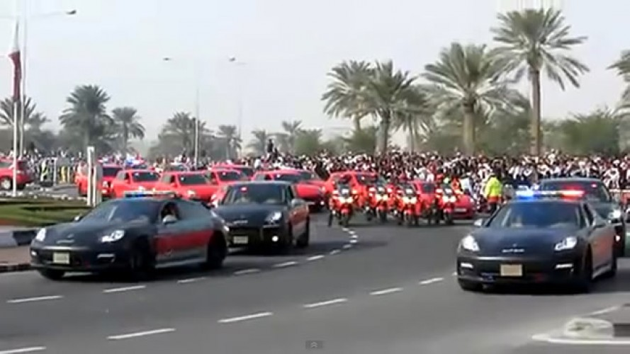 "Vídeo: Desfile exibe as novas viaturas ""Porsche"" da Polícia do Qatar"