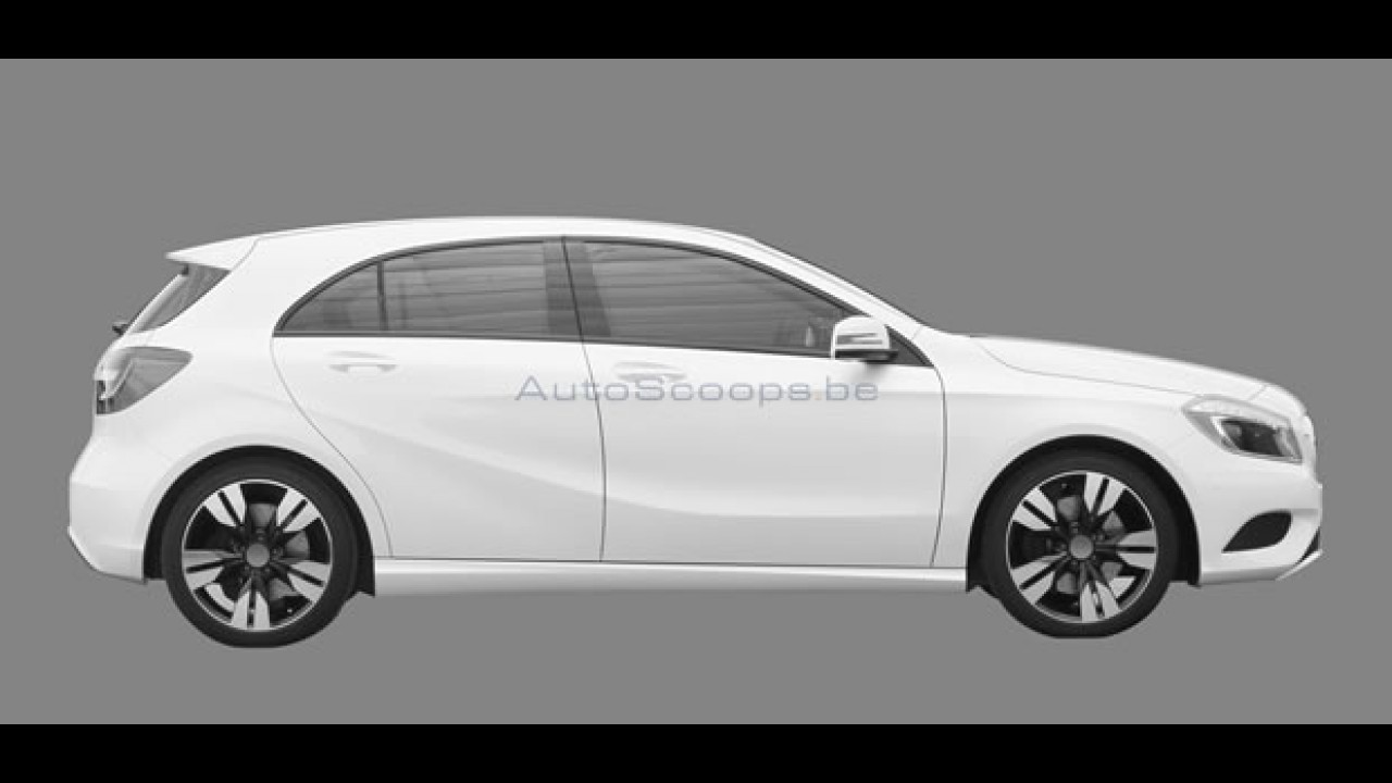 Vazam imagens do Novo Mercedes Classe A