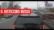 O Justiceiro: Motorista de ônibus não alivia para motoristas ruins na Rússia