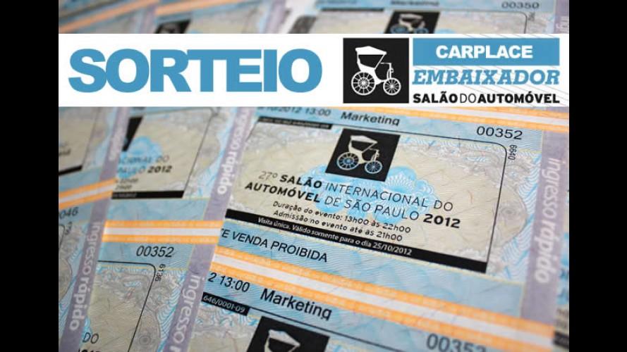 RESULTADO: Sorteio de 7 pares de ingressos para o Salão do Automóvel de São Paulo de 2012