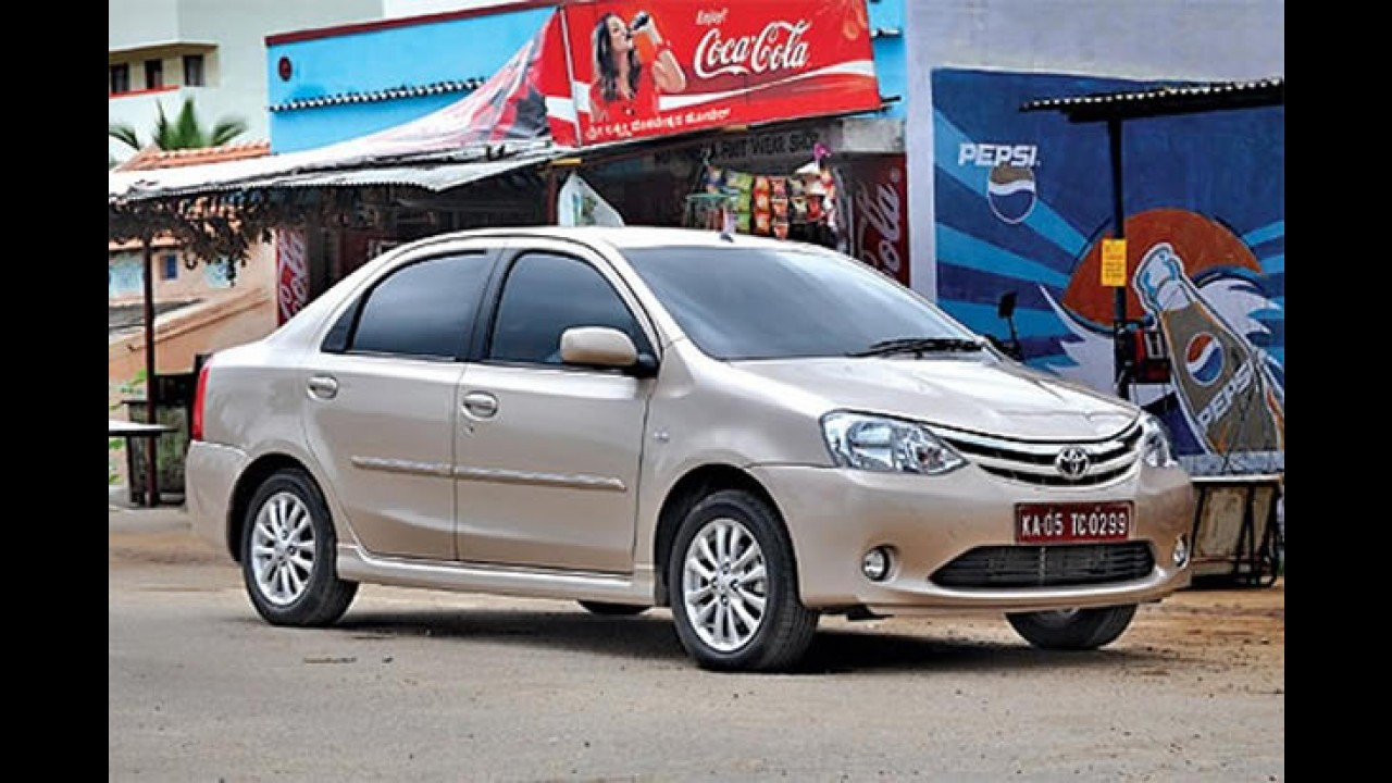 Este é o Novo Toyota Etios indiano, mas que também será feito no Brasil