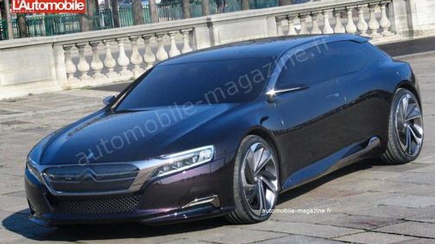 Citroen DS9 concept caught uncovered