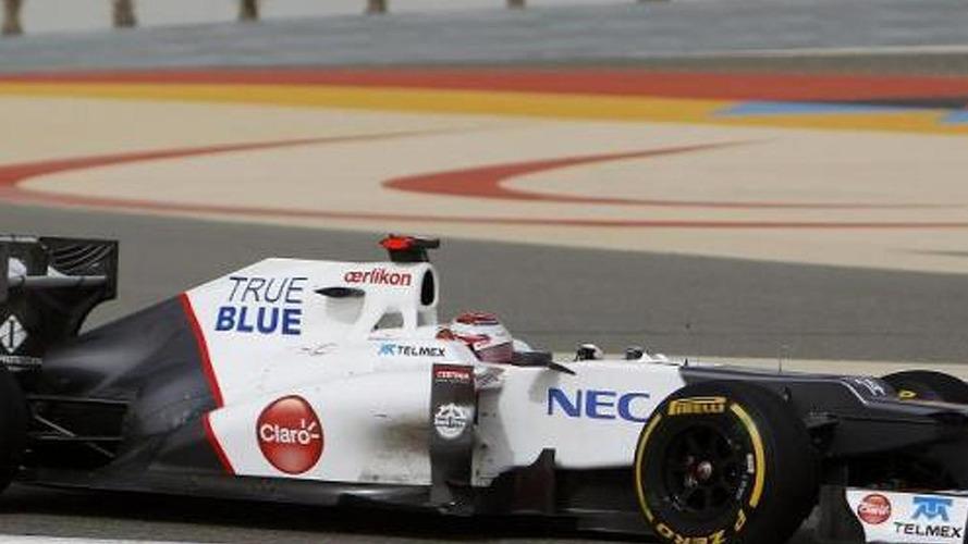 Sauber F1 race car sports true blue logo