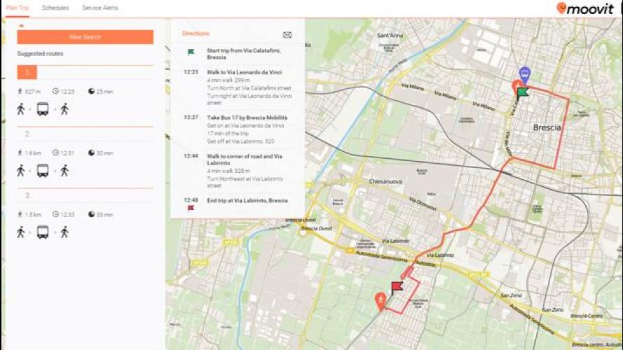Moovit, l'app 'sociale' per il trasporto pubblico si espande