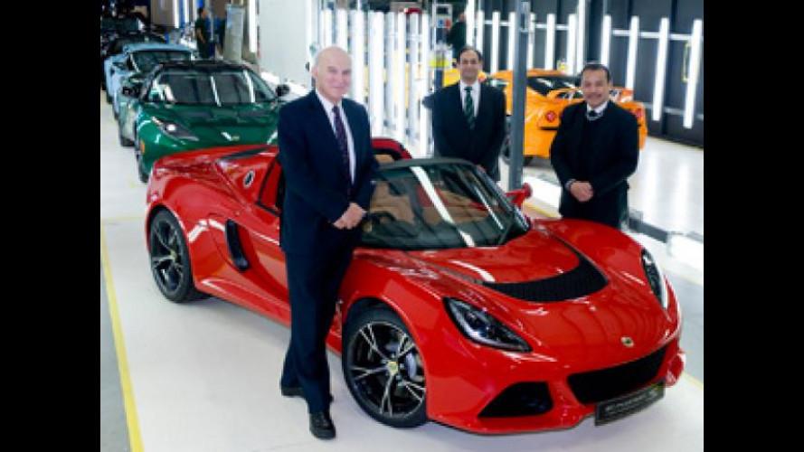 Lotus, 10 mln di sterline dal governo inglese