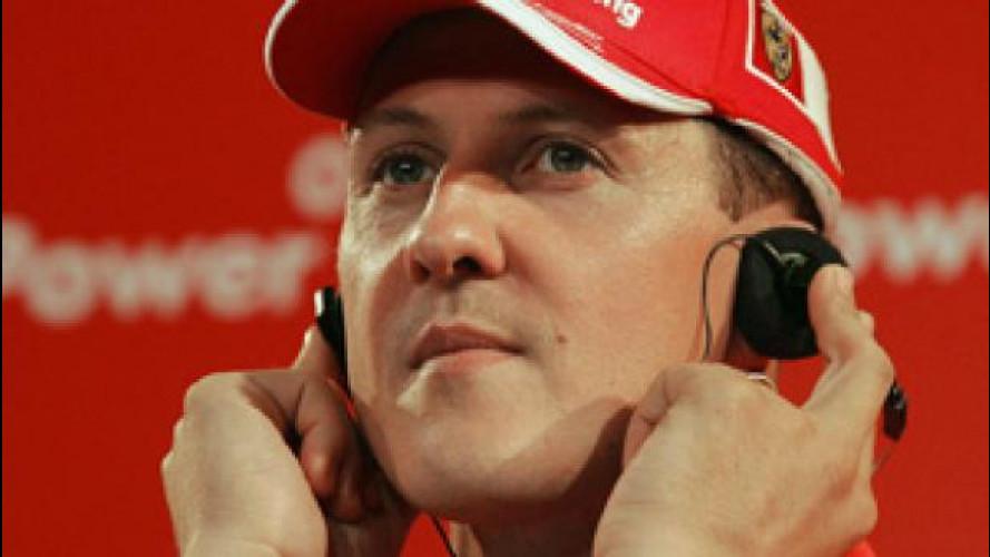 Michael Schumacher muove gli occhi