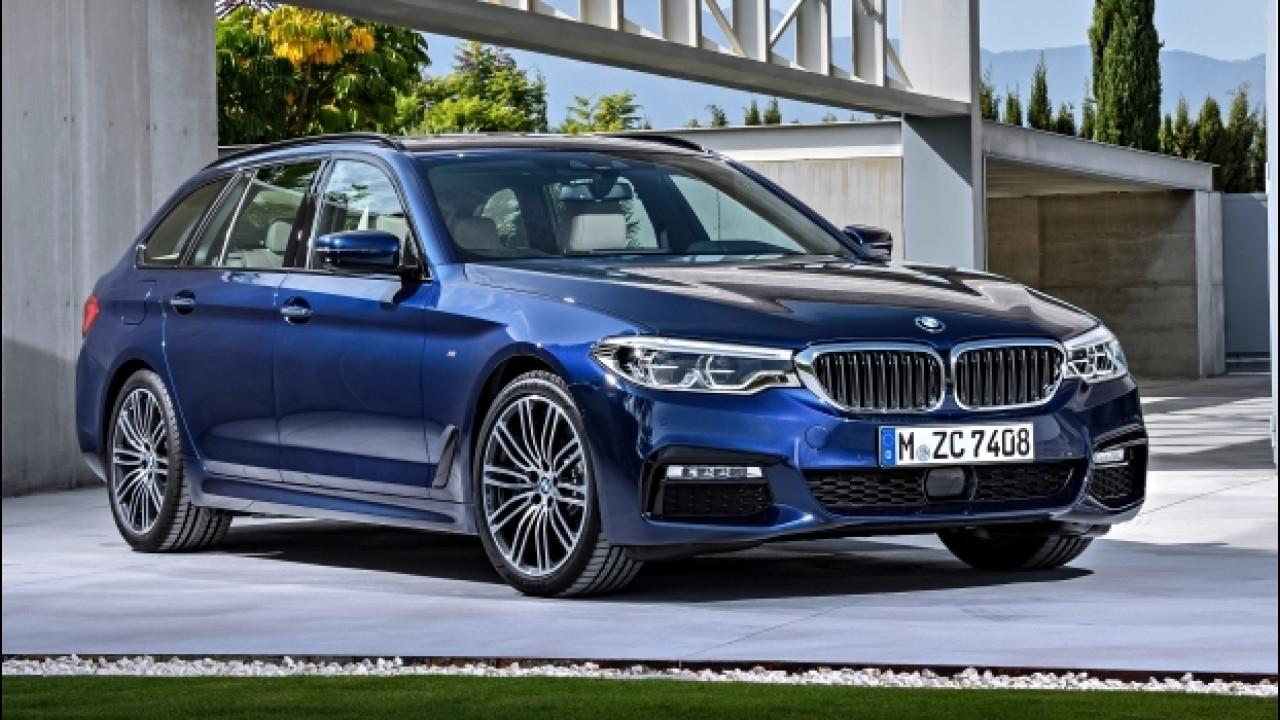 [Copertina] - BMW nuova Serie 5 Touring, prezzi da 53.350 euro