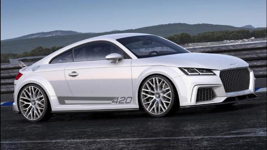 Audi TT quattro sport concept: prove tecniche di pista