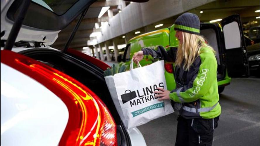 Acquisti online: Volvo sperimenta la consegna in auto
