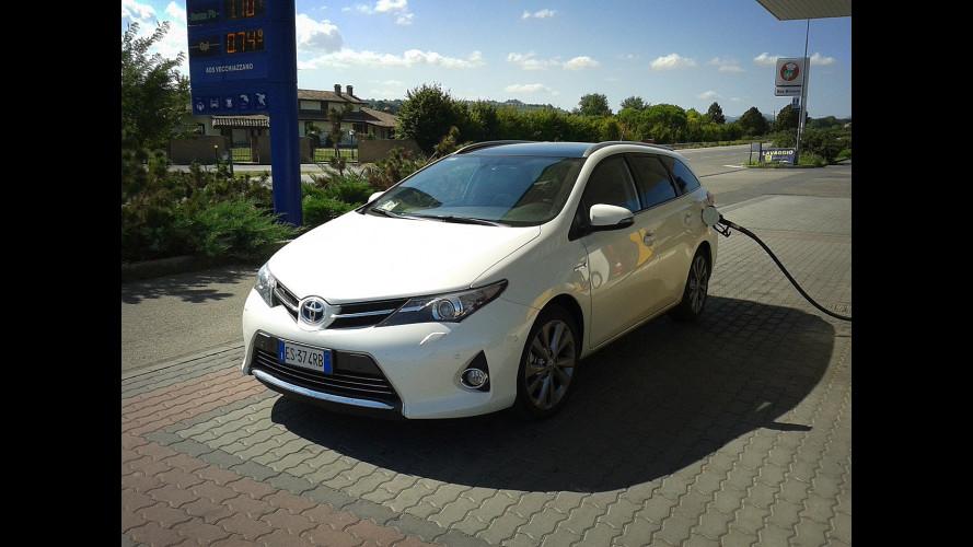 Toyota Auris Hybrid Touring Sports, la prova dei consumi