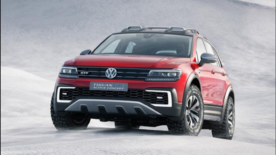 Volkswagen Tiguan GTE Active Concept: off-road, sportiva e ibrida [VIDEO]