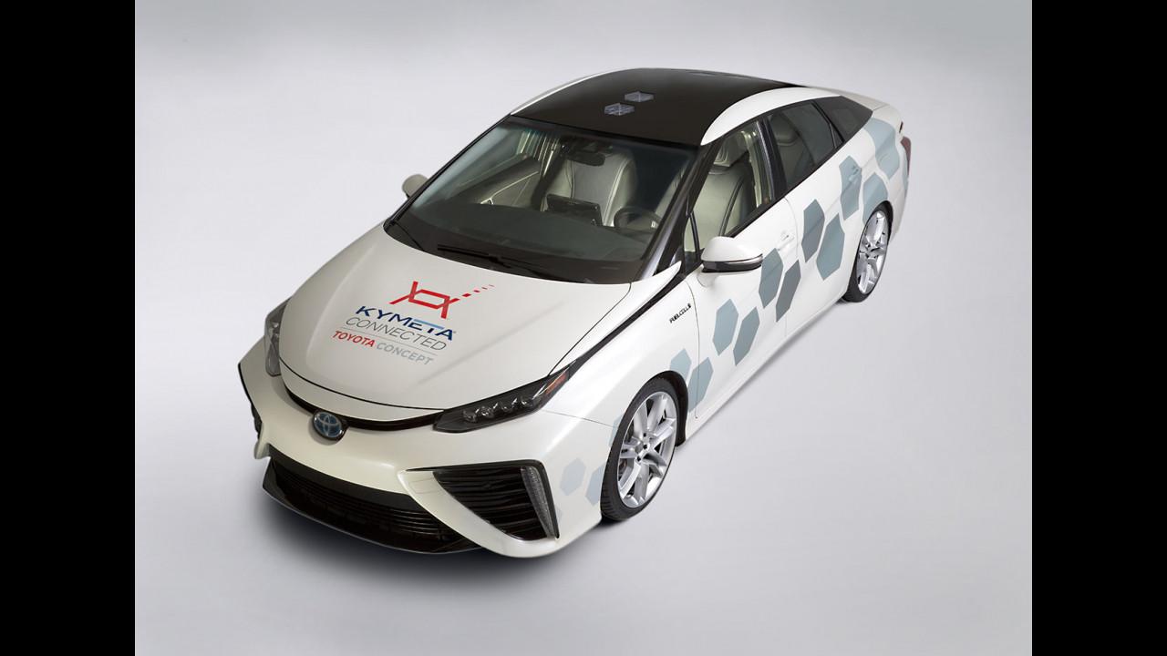 Toyota Mirai, il concept collegato ai satelliti