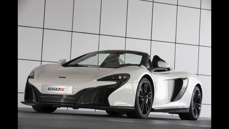 McLaren Al Sahara 79, la 650S Spider tinta con l'oro 24 carati