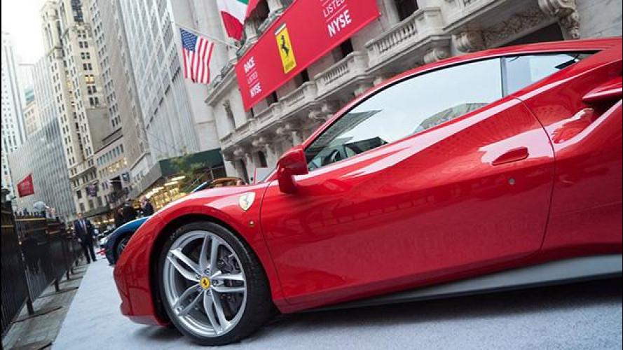 """Ferrari: esordio """"di corsa"""" in Borsa, azioni a 60 dollari"""