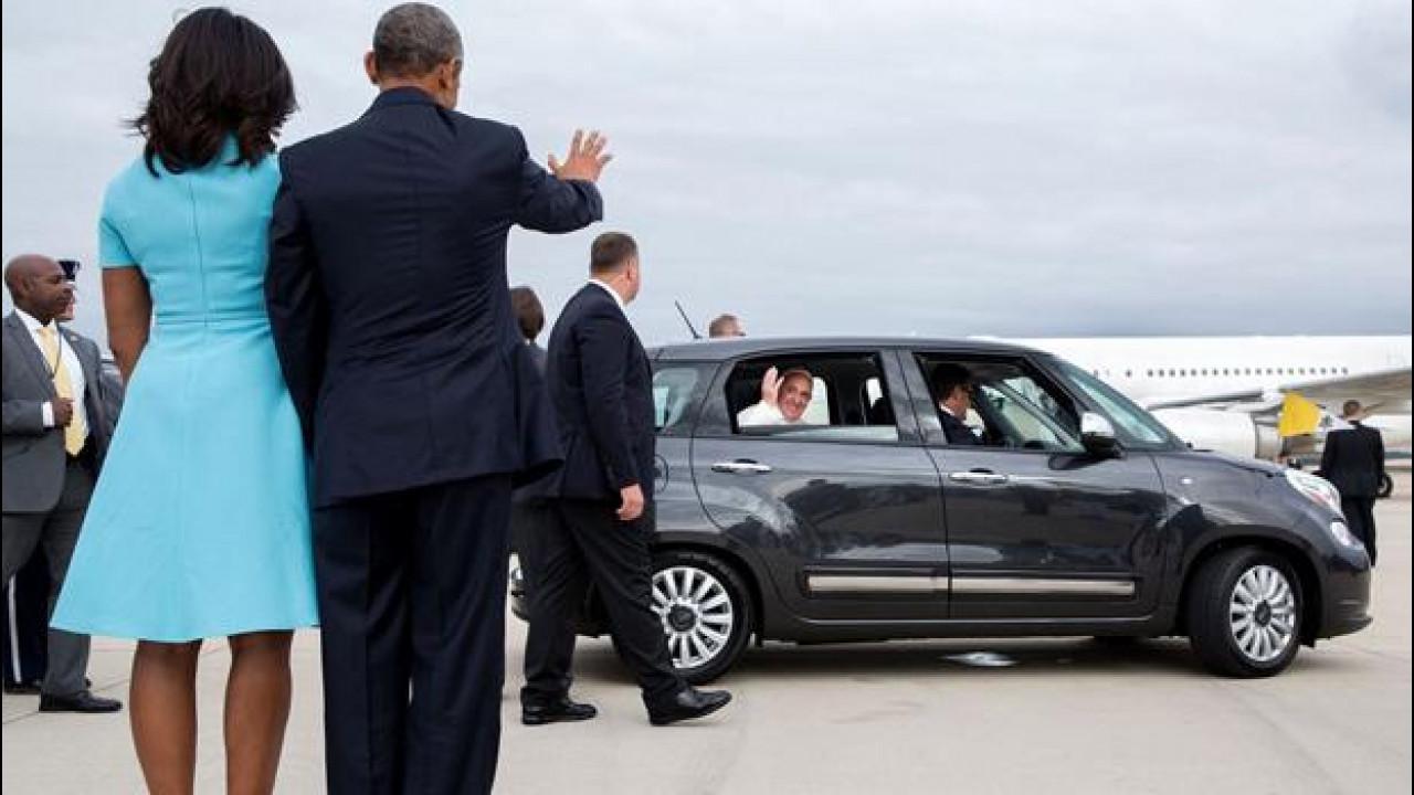 [Copertina] - Papa Francesco alla Casa Bianca in Fiat 500L [VIDEO]