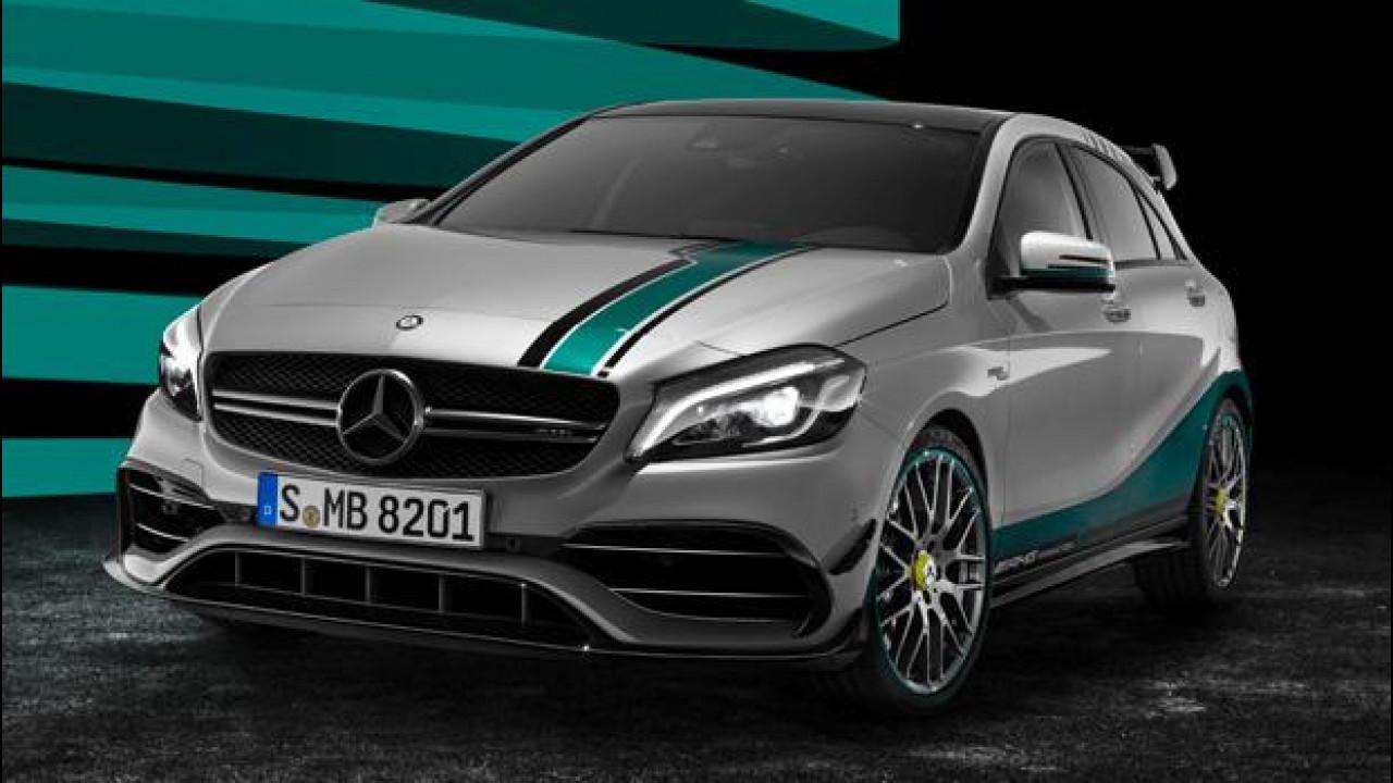 [Copertina] - Mercedes AMG A45, tributo alla Formula 1 con la Champions Edition