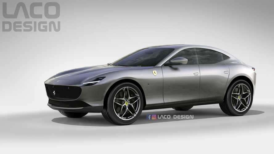 2021 Ferrari Purosangue Rendered As The Roma SUV