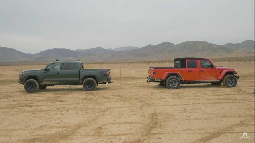 Toyota Tacoma TRD Pro Goes Against Jeep Gladiator Rubicon In Tug Of War