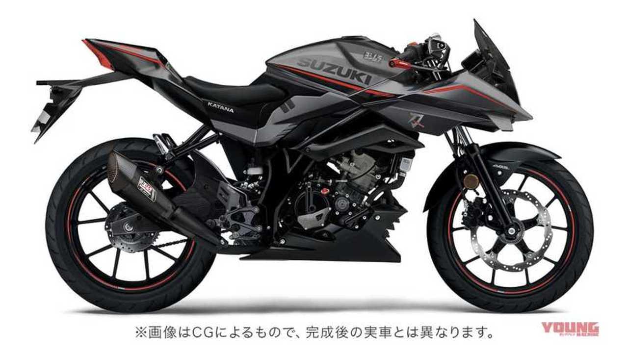 Suzuki Katana 125R Render Young Machine