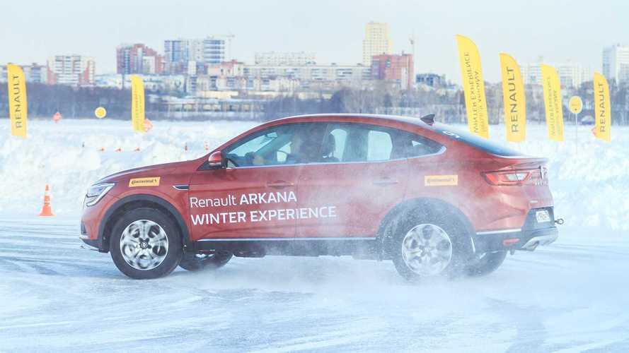Renault Arkana на уральском льду - выдержит ли вариатор?