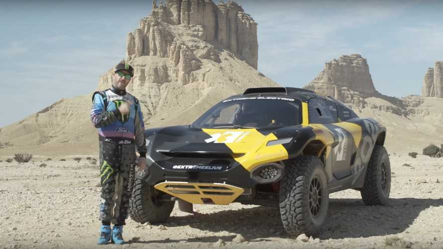Watch Ken Block Hoon Extreme E Off-Road Racer In Dakar Rally