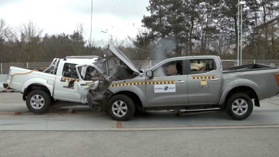 'New' Nissan NP300 Crash Test With Used Navara Has Horrible Outcome