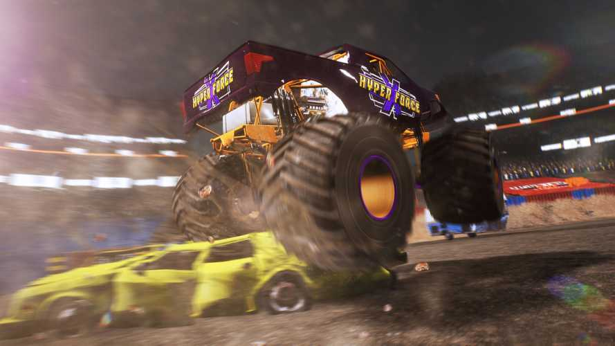 New Monster Truck Video Game Lets you Crush Cars, Rub Paint