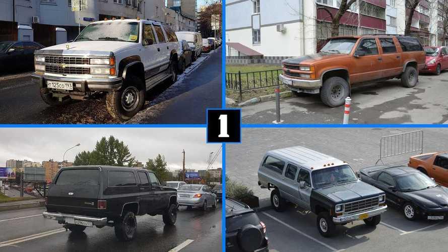 Посмотрите на 15 Chevrolet Suburban, которые мы поймали в Москве
