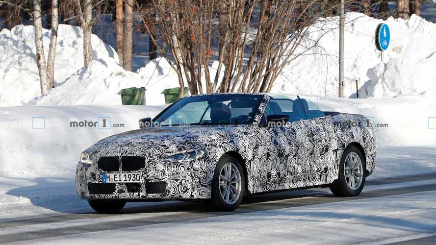 2021 BMW 4 Series Convertible spied with the top down