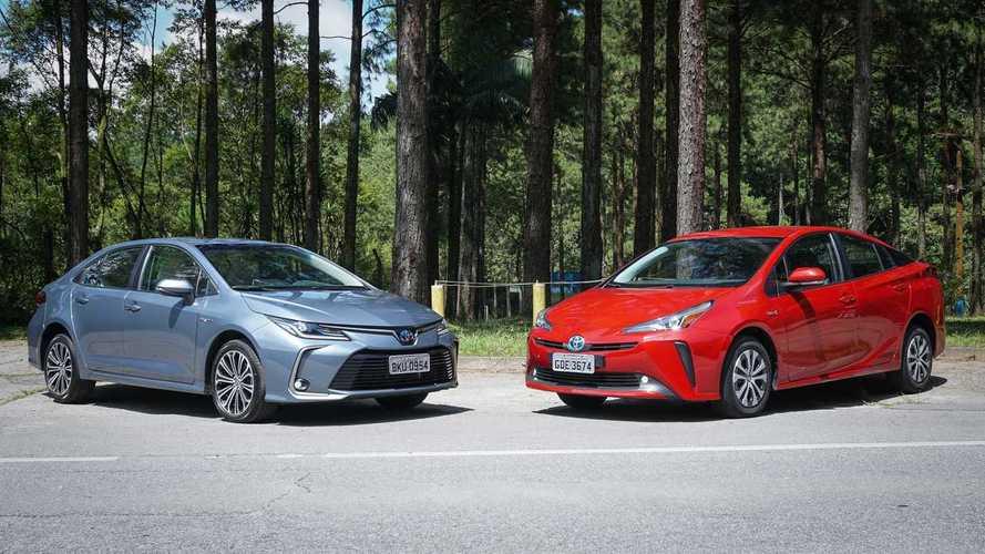 Comparativo Toyota Corolla Hybrid vs. Prius: Criatura ou criador?