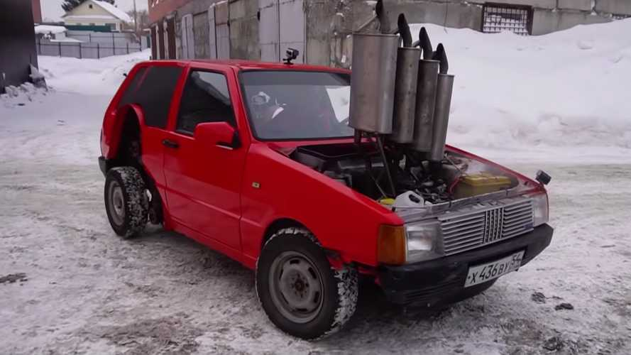 Russia Takes Tuning To Next Level By Installing Four Mufflers